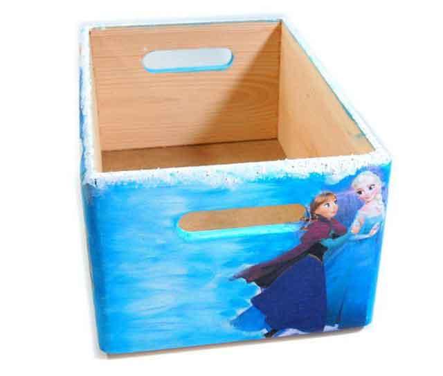 Desene Frozen, printese Anna, Elsa si Olaf ladita lemn, ladita transport 7303 poza a 4a