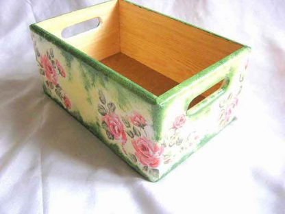 Ladita depozitare obiecte, ladita lemn cu trandafiri 27649 poza a 2a