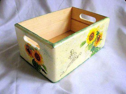 Ladita lemn cu floarea soarelui, ladita transport model 27653