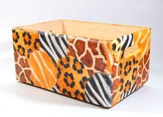 Ladita stocare, ladita cu design blana de tigru model 7313