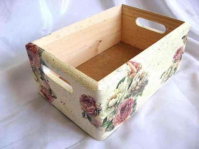 Ladita transport, ladita lemn stocare cu trandafiri rosii si albi 28020 poza a 2a