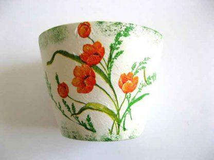 Vaza flori maci rosii, vaza ceramica cu model floral 21832