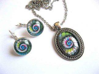 Bijuterii spirala culori vernil, albastru, bleu, rosu, negru si alb 29150
