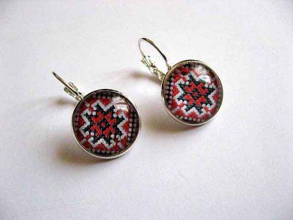 Cercei cu tortite si cu motive traditionale, bijuterii femei handmade 29015