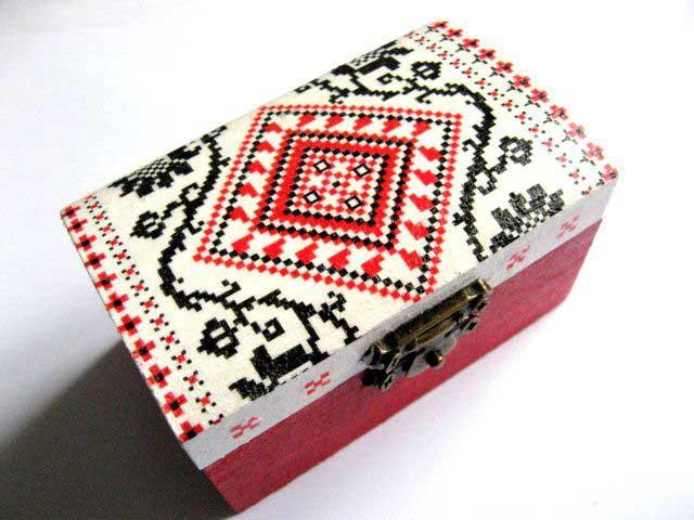 Cutie accesorii si bijuterii femei, cutie cu motive traditionale 28946