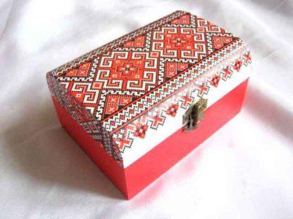 Cutie cu motive traditionale cu figuri geometrice, articol cadou femei 29160