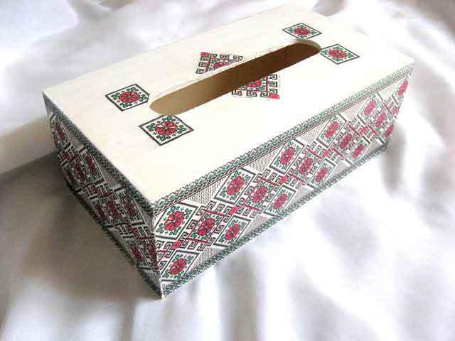 Cutie servetele motive traditionale, flori stilizate si modele geometrice 29171