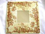 Design elemente florale de culoare maro, oglinda femei handmade 17272