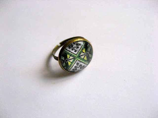 Inel reglabil cu motiv traditional, bijuterie femei 29067