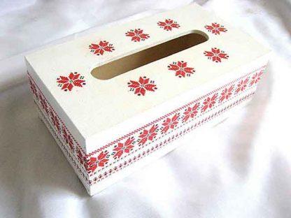 Motiv floral stilizat, cutie servetele cu motiv traditional 29172