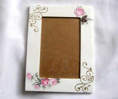 Trandafiri roz rama fotografie lemn, produs lucrat manual rama foto 27537