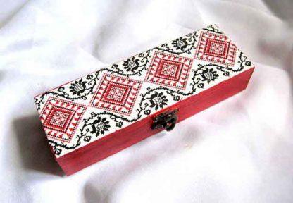 Cutie accesorii femei, cutie motive traditionale romanesti 29347