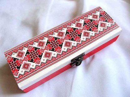 Cutie cu elemente etno folclorice traditionale romanesti, cutie bijuterii 29320
