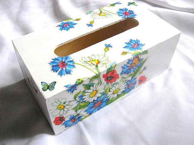 Cutie servetele cu model floral si fluturi, cutie servetele 29358