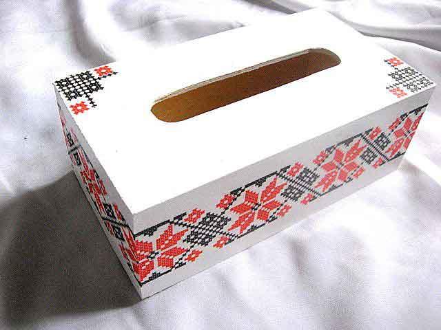 Cutie servetele, cutie lemn cu motive traditionale 29362
