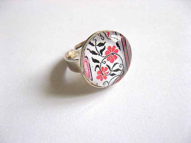 Inel cu motiv floral stilizat, inel reglabil femei 29209