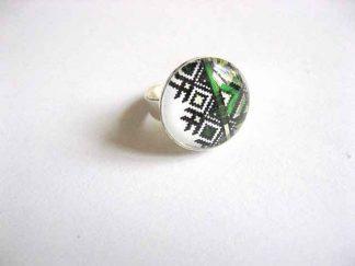Inel cu motive traditionale, inel reglabil cu modele geometrice 29213