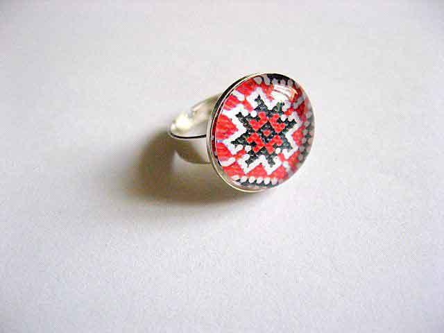 Inel lucrat manual femei, inel reglabil motiv traditional 29197