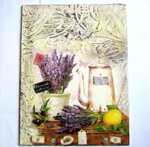 Tablou levantica, ceainic, grapefruit pe un geamantan, tablou panza 29398
