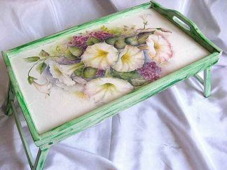 Tava masuta, tava trandafir chinezesc si violeta de parma, flori mov 24551