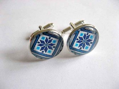 Butoni camasa culori albastru si bleu, camasa butoni barbati 29525