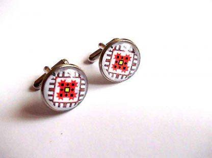 Butoni cu motive traditionale maci stilizati, butoni camasa 33394