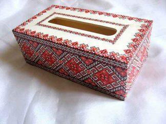 Cutie servetele cu motive traditionale, cutie cu modele geometrice 29510