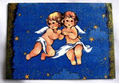 Doi ingeri pe un cer instelat, tablou pe panza 18101