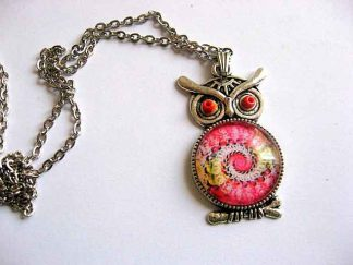 Dragonul de foc, bufnita pandantiv, bijuterie femei colier si pandantiv 29549