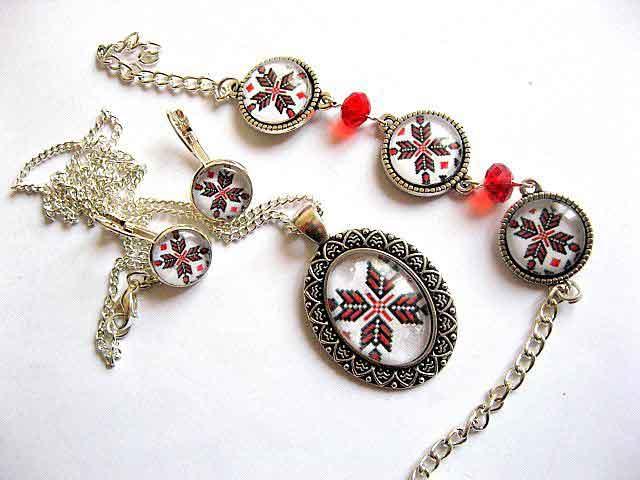 Set bratara reglabila, cercei, colier, pandantiv, bijuterii femei 29481