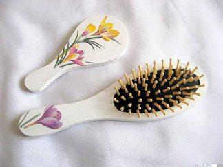 Set pentru femei, set oglinda si perie par cu branduse 29502