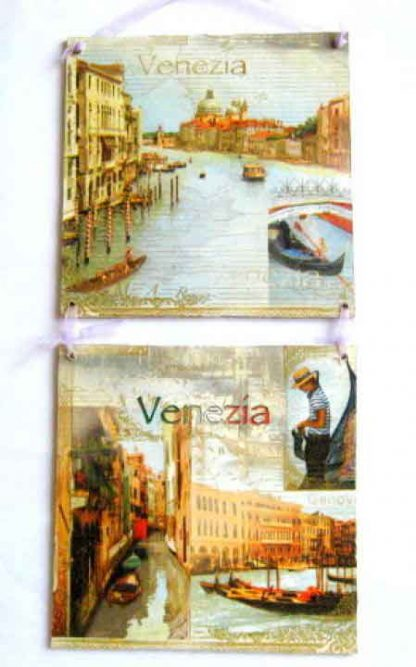 Set tablouri Venezia, canalele din Venezia 16696