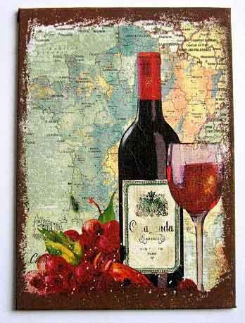 Sticla de vin cu pahar umplut trei sferturi cu vin, tablou pe panza 28073
