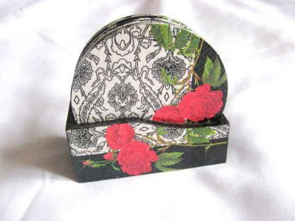 Suporturi cani si pahare, suporturi cu model de trandafiri rosii 27704 poza a 2a