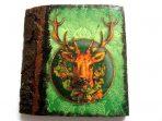 Tablou cap de cerb, tablou lemn tematica animal salbatic 15269