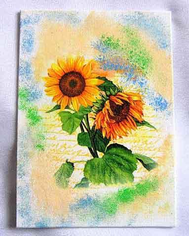 Tablou cu floarea soarelui, tablou simplu pe panza 28103