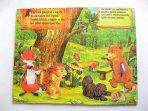 Tablou lemn cu animale in padure, tablou camera copii, limba maghiara 16317