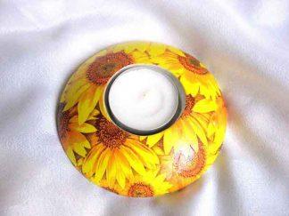 Design floarea soarelui, suport de lumanare si lumanare 25954