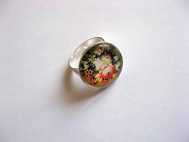 Inel reglabil femei, inel cu model floral 29247