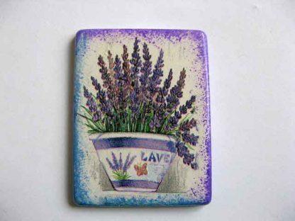 Magnet cu flori de lavanda, magnet frigider cu flori mov 25232