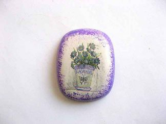 Magnet cu ghiveci cu flori de levantica, magnet frigider ipsos 25272