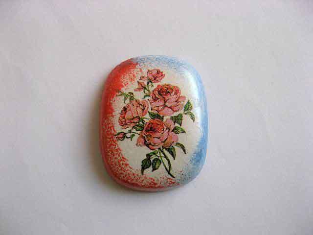 Magnet frigider ipsos, magnet cu trandafiri rosii 25259