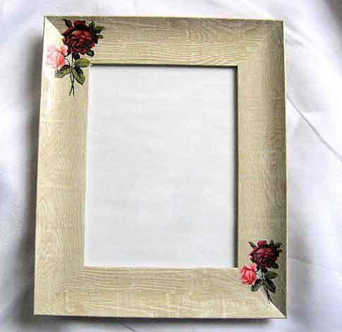 Rama foto cu model de trandafiri rosii si trandafiri roz, rama simpla fotografie 27494