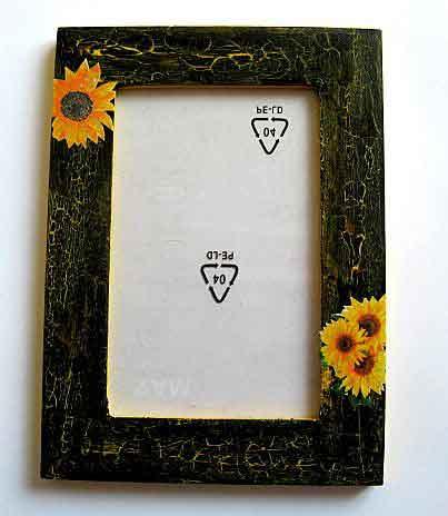 Rama fotografie cu floarea soarelui, rama foto cu model floral 27286