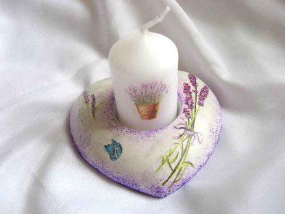 Suport flori de lavanda si design ghiveci cu lavanda pe lumanare, suport lumanare 23199