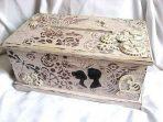 Dar de nunta, cutie stil cufar, cutie de lemn decorata 29350