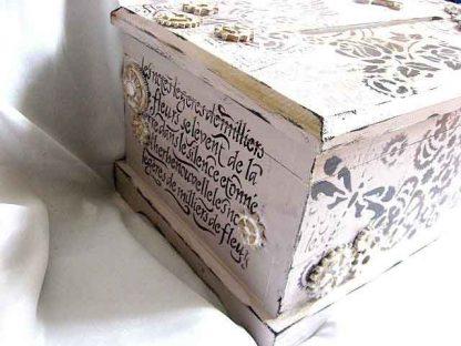 Dar de nunta, cutie stil cufar, cutie de lemn decorata 29350 poza a 3a