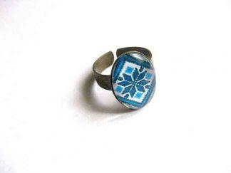 Inel ieftin femei cu motiv traditional, inel reglabil 29761