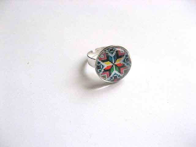 Inel reglabil cu motiv traditional, inel femei cadou 29753