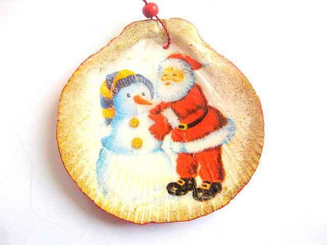 Ornament brad cu Mos Craciun si om de zapada, decoratiune brad 29857